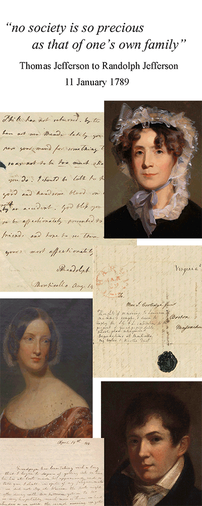 Mosaic image of portraits and handwritten letters